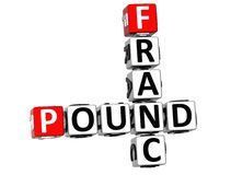 3D Franc Pound Crossword Foto de Stock