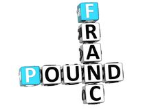 3D Franc Pound Crossword Foto de Stock Royalty Free
