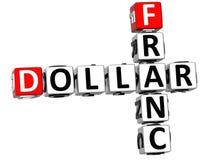 3D franka Dolarowy Crossword Zdjęcie Stock