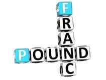 3D franka funta Crossword Zdjęcie Royalty Free