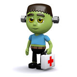 3d Frankenstein is a first responder Royalty Free Stock Photo