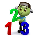 3d Frankenstein learns to count Royalty Free Stock Photos