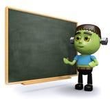 3d Frankenstein przy chalkboard Ilustracja Wektor