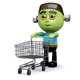 3d Frankenstein shopper Royalty Free Stock Images