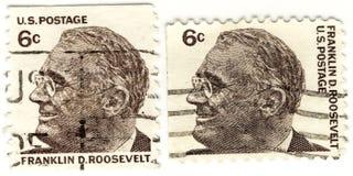 d Franklin rooseve znaczki Zdjęcie Royalty Free