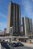 d Franklin Roosevelt 罗斯福East河驱动在曼哈顿 库存图片