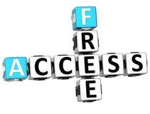 3D Free Access Crossword Royalty Free Stock Photos