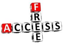 3D Free Access Crossword Stock Photo