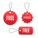 3D free badges set for your design Stock Images