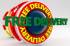 3d Free delivery sign Royalty Free Stock Images