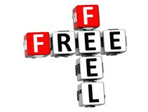 3D Free Feel Crossword Royalty Free Stock Photo