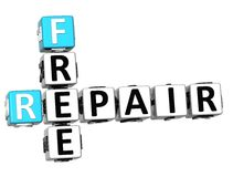 3D Free Fix and Repair Need Crossword Royalty Free Stock Photos