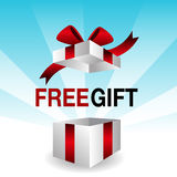 3d Free Gift. An image of a 3d free gift icon Stock Photography
