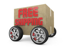 3D free shipping cardboard Stock Image