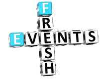 3D Fresh Events Crossword. On white background Royalty Free Stock Photography