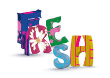 3D Fresh text Royalty Free Stock Images