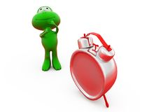 3d frog alarm clock concept Stock Image
