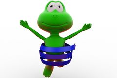3d frog arrow around concept Royalty Free Stock Images