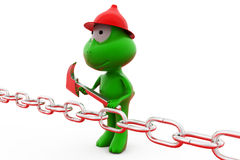 3d frog break chain concept Stock Photography