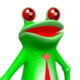 3D frog - businessman concept. 3D frog on white background - businessman concept Royalty Free Stock Images