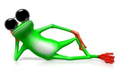 3D frog Stock Image