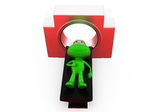 3d frog CT scan concept Stock Photography
