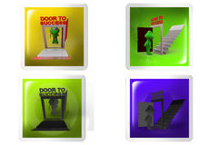 3d frog door to success concept icon Royalty Free Stock Photography