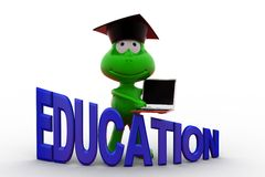 3d frog education concept Stock Photography