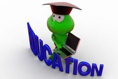 3d frog education concept Stock Photo
