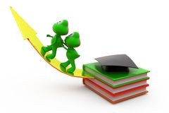 3d frog education growth concept Stock Photo