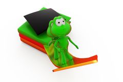 3d frog education growth concept Royalty Free Stock Image