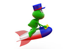3d frog express mail concept Stock Images