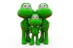 3d frog family concept Royalty Free Stock Images