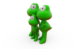 3d frog family concept Royalty Free Stock Image