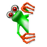 3D frog - glasses concept Royalty Free Stock Images