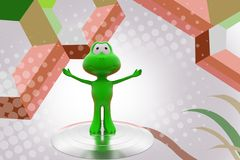 3d frog happy  illustration Royalty Free Stock Photography
