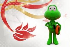 3d frog lifegaurd  illustration Royalty Free Stock Photography