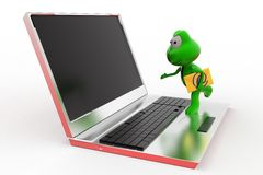 3d frog mail concept Stock Photography