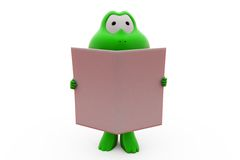 3d frog news paper concept Royalty Free Stock Image