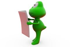 3d frog news paper concept Royalty Free Stock Photography