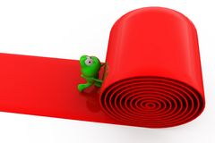 3d frog paves road concept Royalty Free Stock Photos