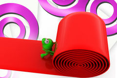 3d frog paves road illustration Royalty Free Stock Photography