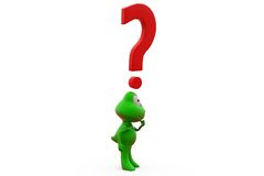3d frog question mark concept Stock Image