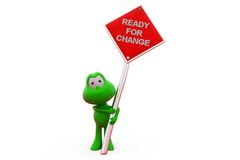 3d frog ready for change concept Royalty Free Stock Images