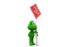 3d frog ready for change concept Stock Photos