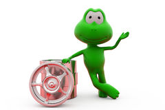 3d frog with rim concept Stock Photo