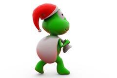 3d frog santa claus concept Stock Photography