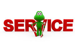 3d frog service concept Stock Photo