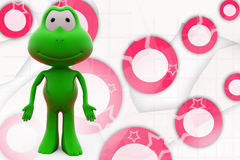 3d frog stand illustration Stock Image