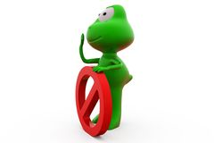 3d frog stop concept Stock Image